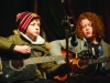 Two of the musicians from Gaelscoil Ultain, playing at the Monaghan Town Christmas Lights Switch-On. ©Rory Geary/The Northern Standard