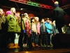 Some of the members of the choir from Gaelscoil Ultain on stage at the Monaghan Town Christmas Lights Switch-On. ©Rory Geary/The Northern Standard