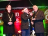 Cathaoirleach of Monaghan Municipal District, Cllr Paudge Connolly, speaking with Sean McCaffrey, at the Monaghan Town Christmas Lights Switch-on. ©Rory Geary/The Northern Standard