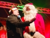 Santa speaking with Sean McCaffrey, when he attended the Monaghan Town Christmas Lights Switch-On event. ©Rory Geary/The Northern Standard