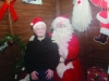 Cillian Caulfield with Santa at the Monaghan Town Christmas Lights Switch-On. ©Rory Geary/The Northern Standard