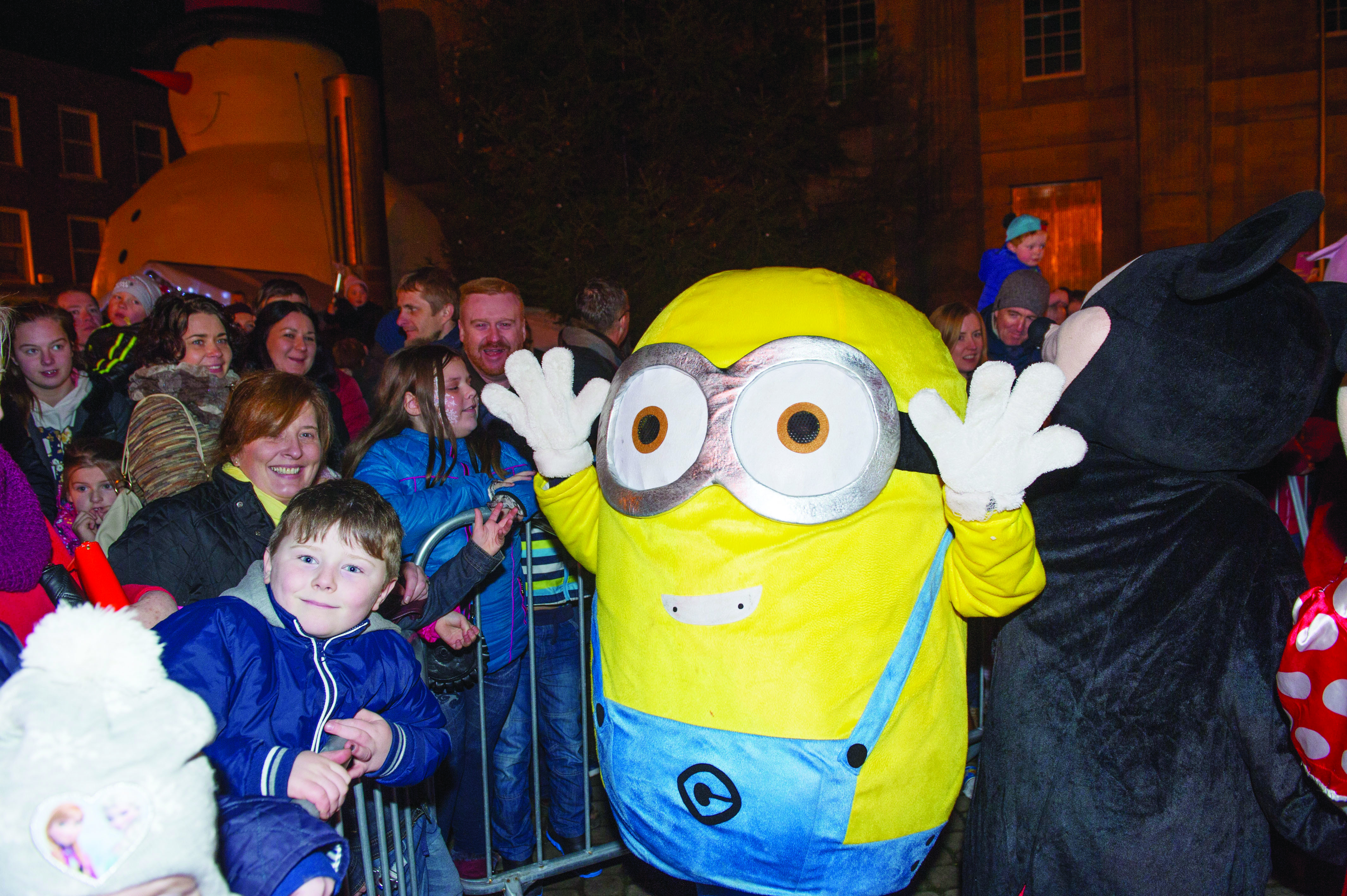 A Minion at the Monaghan Town Christmas Lights Switch-On. ©Rory Geary/The Northern Standard