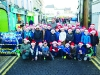 Members of the St Marys Boys School Choir with Tommy Bowe, at the Monaghan Town Christmas Lights switch-on. ©Rory Geary/The Northern Standard