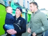 Tommy Bowe meeting Baby Daire and his father Kenny Gorman, when Tommy switched-on the Monaghan Town Christmas lights. ©Rory Geary/The Northern Standard