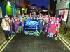 Tommy Bowe with members of the Gaelscoil Ultain Choir at the Monaghan Town Christmas Lights Switch-On. ©Rory Geary/The Northern Standard