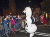 A snowman meeting with some of the crowd at the Monaghan Town Christmas Lights Switch-On. ©Rory Geary/The Northern Standard
