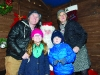 Santa with members of the McFadden family at the . ©Rory Geary/The Northern Standard